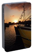 Sunset Over Sutton Harbour Plymouth Portable Battery Charger