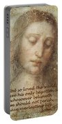 The Head Of Christ Portable Battery Charger