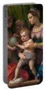 The Holy Family With The Young Saint John The Baptist Portable Battery Charger