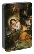 The Penitent Mary Magdalene Visited By The Seven Deadly Sins Portable Battery Charger