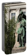 The Statue Of France Preseren And His Muse Portable Battery Charger