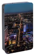 the Strip at night, Las Vegas Portable Battery Charger