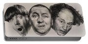 The Three Stooges Hollywood Legends Portable Battery Charger
