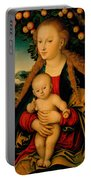 The Virgin And Child Under An Apple Tree Portable Battery Charger