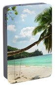Tropical Beach At Mahe Island Seychelles Portable Battery Charger
