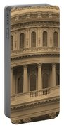 United States Capitol Building Sepia Portable Battery Charger