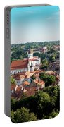 view of downtown in Vilnius city, Lithuanian Portable Battery Charger