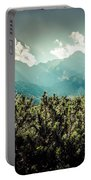 View Of Tatra Mountains From Hiking Trail. Poland. Europe.  Portable Battery Charger