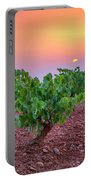 Vineyards At Pink Sunset Portable Battery Charger