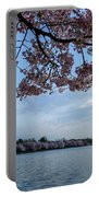 Washington Monument Cherry Blossoms Portable Battery Charger