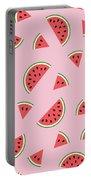 Watermelon Pattern Portable Battery Charger by Alina Krysko