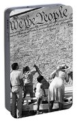 We The People Signing Bicentennial Of The Constitution Tucson Arizona 1987 Portable Battery Charger
