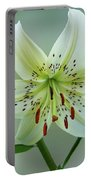 White Tiger Lily Portable Battery Charger
