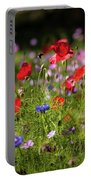Wild Flowers And Red Poppies Portable Battery Charger