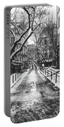 Winter In Paris Portable Battery Charger
