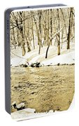 Winter On A Pennsylvania Stream Portable Battery Charger