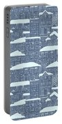 Winter Town Pattern  Portable Battery Charger