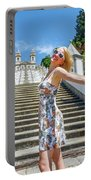 Woman In Portugal Portable Battery Charger