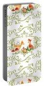 Woodland Fairytale - Animals Deer Owl Fox Bunny N Mushrooms Portable Battery Charger