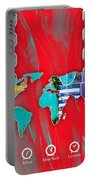 World Map Collection Portable Battery Charger