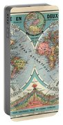 World Map In Two Hemispheres  Portable Battery Charger