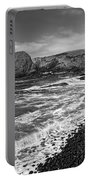 Yaquina Lighthouse On Top Of Rocky Beach Portable Battery Charger