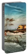 2 Yellow  Beach Houses At Mobile Street Portable Battery Charger