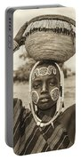 Young Boy From The African Tribe Mursi, Ethiopia Portable Battery Charger