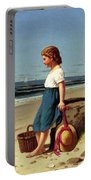 Young Girl At The Seashore Portable Battery Charger