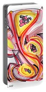 2010 Abstract Drawing Nine Portable Battery Charger