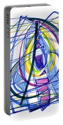 2010 Abstract Drawing Nineteen Portable Battery Charger