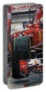 2015 Hungary Gp Ferrari Sf15t Vettel Winner Portable Battery Charger
