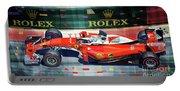 2016 Ferrari Sf16-h Vettel Monaco Gp  Portable Battery Charger