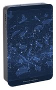 2017 Pi Day Star Chart Carree Projection Portable Battery Charger