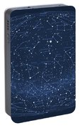 2017 Pi Day Star Chart Hammer/aitoff Projection Portable Battery Charger
