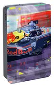 2017 Singapore Gp Red Bull Racing Ricciardo Portable Battery Charger