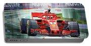 2018 Australian Gp Ferrari Sf71h Vettel Winner  Portable Battery Charger