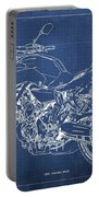 2018 Yamaha Mt07,blueprint,blue Background,fathers Day Gift, 2018 Portable Battery Charger