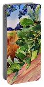 #203 Blue Oak Leaves 2 Portable Battery Charger