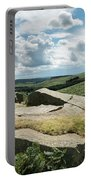 Beautiful Vibrant Landscape Image Of Burbage Edge And Rocks In S Portable Battery Charger