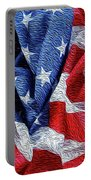 American Flag 40 Portable Battery Charger