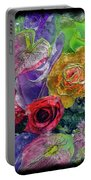 21a Abstract Floral Painting Digital Expressionism Portable Battery Charger