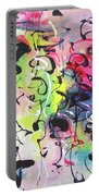 Abstract Calligraphy Portable Battery Charger