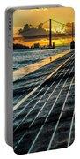 25 De Abril Bridge In Lisbon. Portable Battery Charger