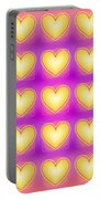 25 Little Yellow Love Hearts Portable Battery Charger