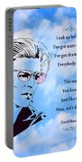 256- David Bowie Portable Battery Charger