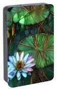 Jeweled Water Lilies Portable Battery Charger
