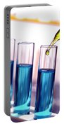 Laboratory Test Tubes In Science Research Lab Portable Battery Charger