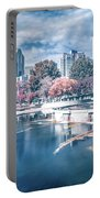 Charlotte North Carolina Cityscape During Autumn Season Portable Battery Charger