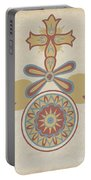 "Santa Barbara Mission Doorway Design From The Portfolio ""decorative Art Of Spanish California"" Portable Battery Charger"